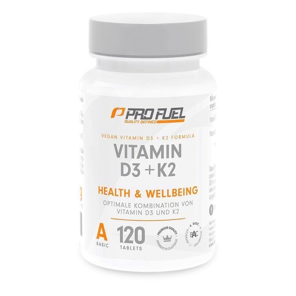 ProFuel VITAMIN D3 & K2 Vegan - 120 Tabletten