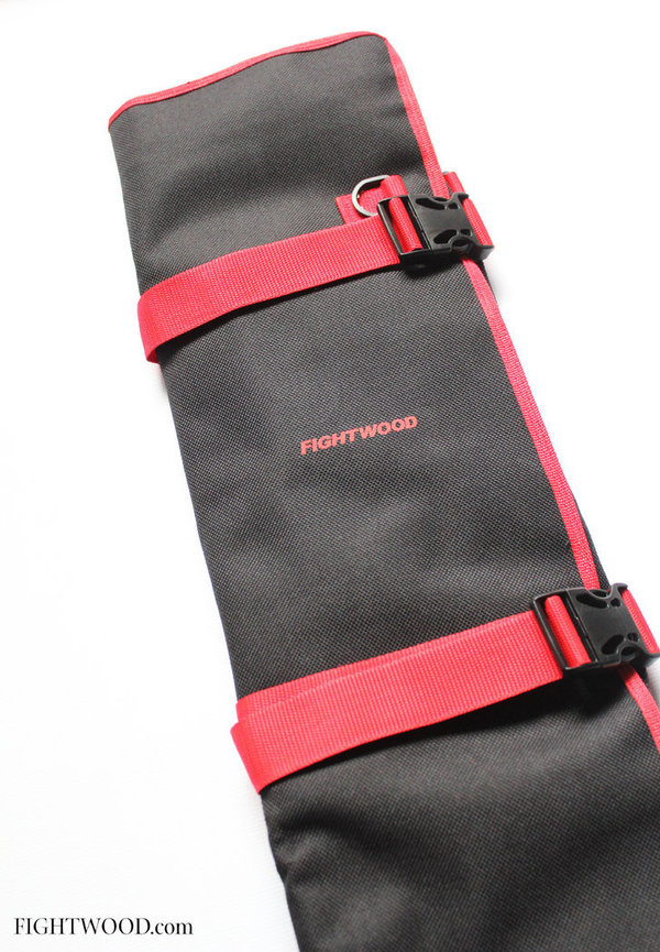 Fightwood Arnis Equipment XL bag to roll up - Black and Red